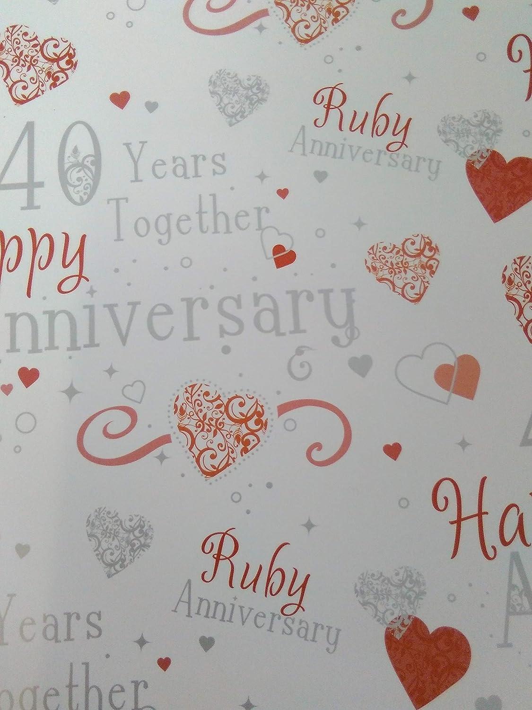 18 x Luxury Ruby 40th Wedding Anniversary Party Napkins