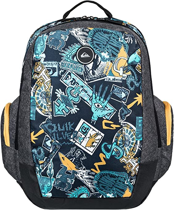 Mens Backpacks Yellow Quiksilver Schoolie II 30L Backpack