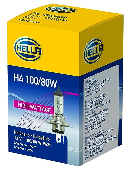 HELLA INC H83140171 H4 BOMBILLA 12V 100-80W: Amazon.es: Deportes y aire libre
