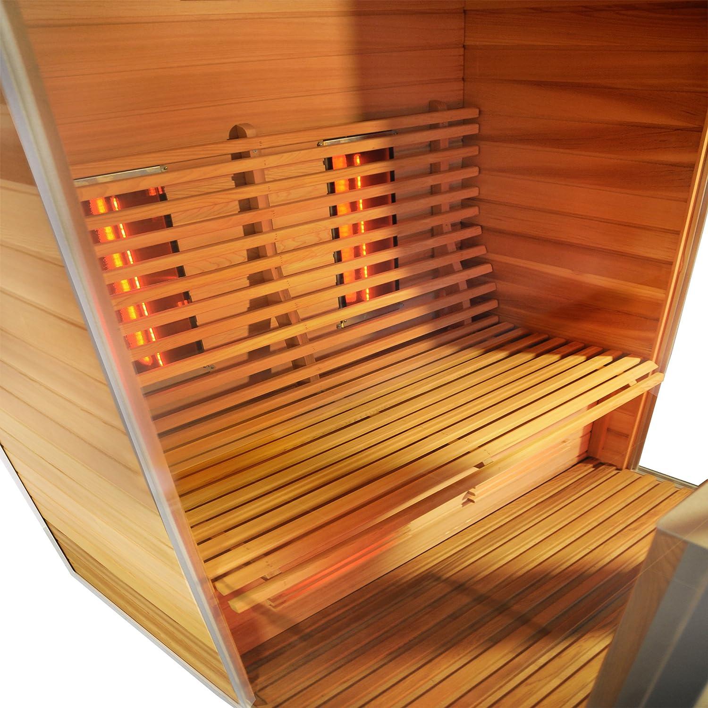 Sauna rotes Zedernholz Infrarotsauna Infrarotw/ärmekabine InfrarotkabineAthen W/ärmekabine