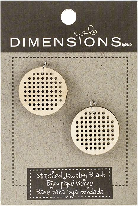 Large Dimensions Crafts 72-74076 Square Blank Pendant for Counted Cross Stitch Kit