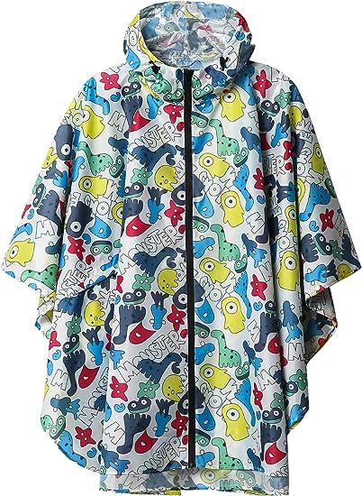 SaphiRose Rain Poncho Jacket Coat Hooded