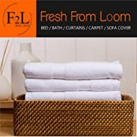 Fresh From Loom Towel for Gym, Sports, Kitchen 100% Cotton Towel (White, 16 x 30 inch), 3pc Set