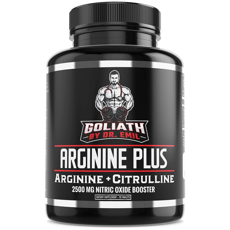 Dr. Emil s ARGININE Plus – L Arginine L Citrulline – 2500 MG High Dose NO Booster Tablets – Nitric Oxide Supplement for Muscle, Pump and Heart Health Arginine AAKG and Citrulline Malate 2 1