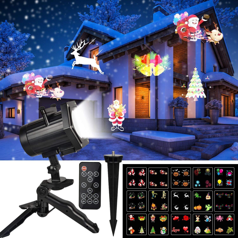 LED Weihnachtsbeleuchtung Projektor Lampe, UNIFUN Animiert Licht ...