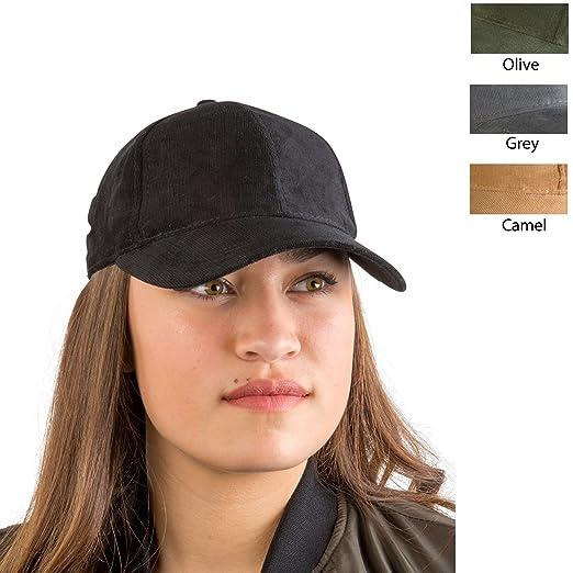 b66dcaf668e Amazon.com  AUGUST HAT COMPANY Women s Black Pinwale Corduroy ...