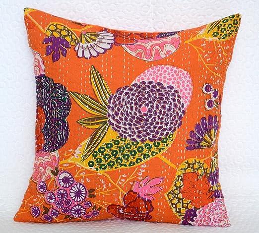Indian decorativo Vintage Kantha almohada funda para cojín ...