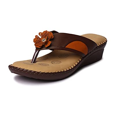 ecd8c051100df9 Lockey Fashionable Doctor-Plus Orthopedic Slippers for Women with Extra  Soft Padding  Buy Online at Low Prices in India - Amazon.in