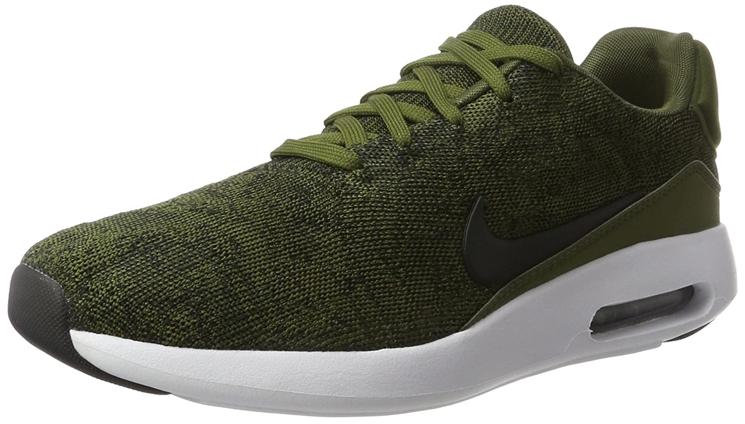 Nike Air MAX Modern Flyknit, Zapatillas para Hombre 42 EU|Verde (Rough Green/Black/Black/White)