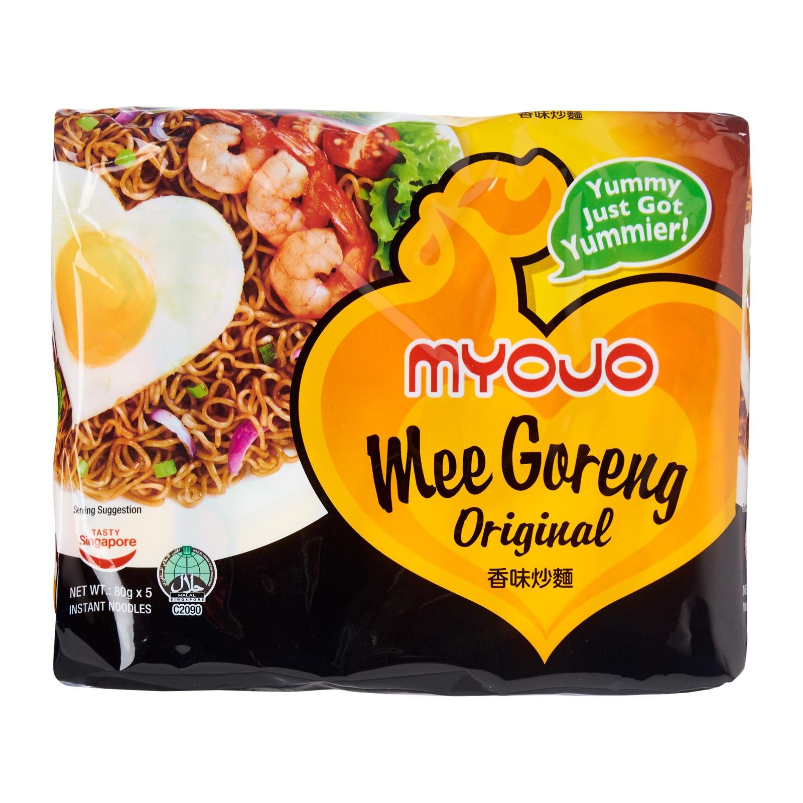 Myojo Mee Goreng Original/Dry Chewy Noodle With Salty Sweet Flavor/Prefect For Days When Hot Soup Is A Little Too Much For The Hot Weather/Yummy Just Got Yummier ! / 5 packs x 80g