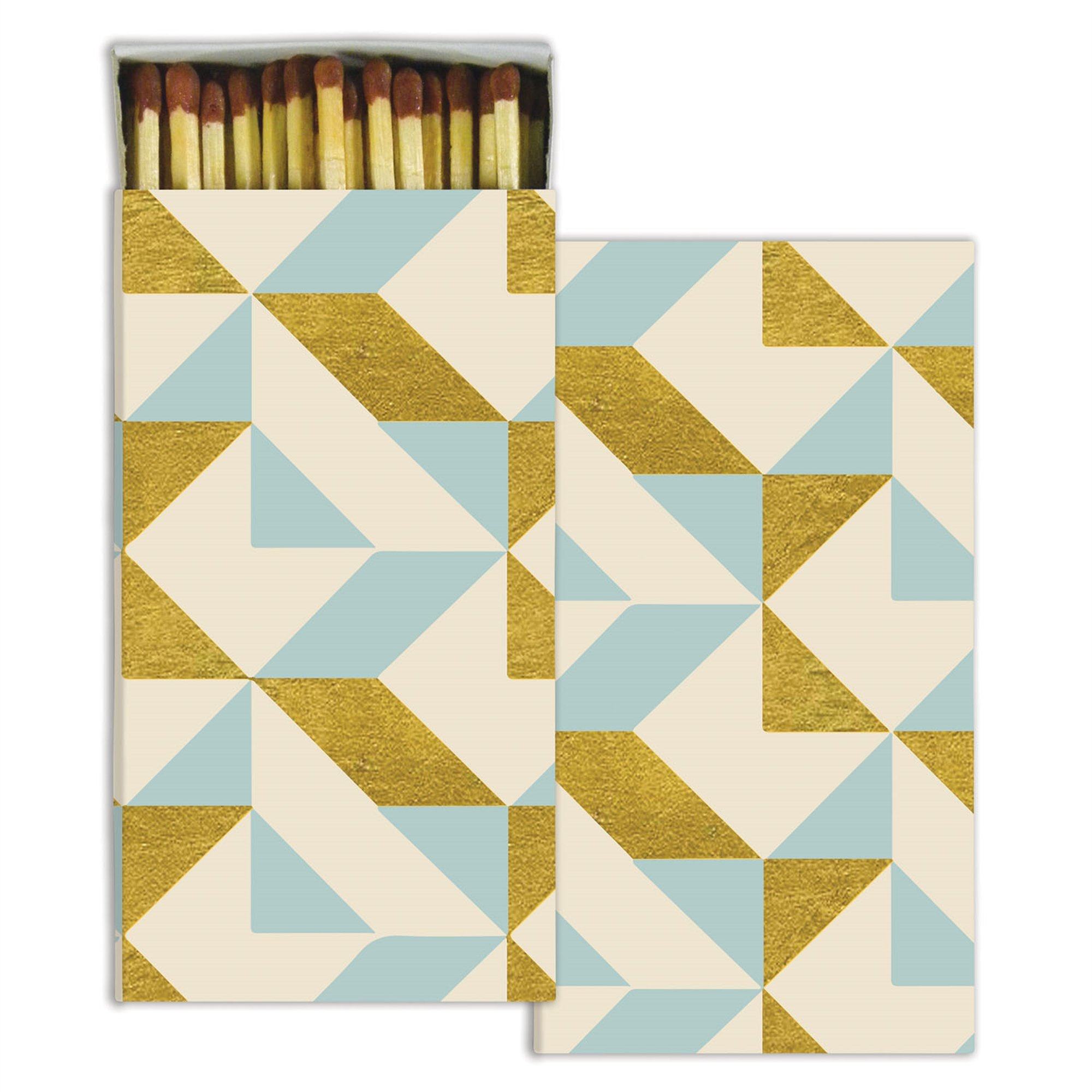 HomArt Large Decorative Colette Graphic Candle and Fireplace Wood Matches (Set of 10)