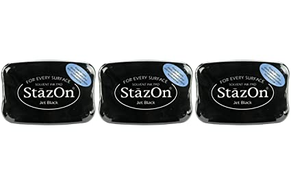 StazOn Ink Pad JET BLACK TSUKINEKO For Stamping **Brand New /& Sealed**
