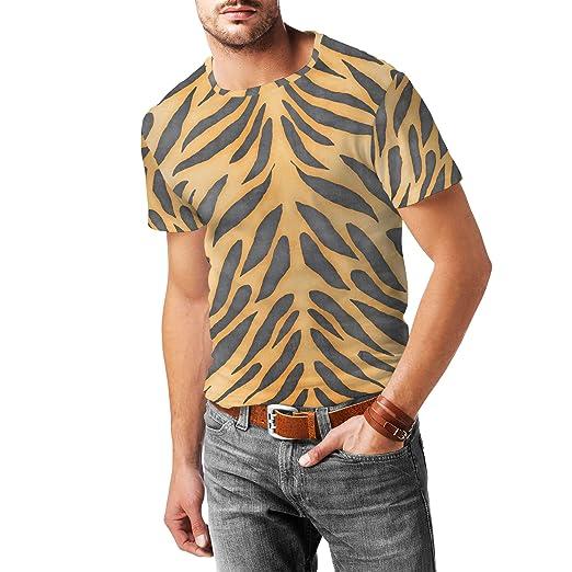 55c20688984 Amazon.com  Tiger Print Mens Cotton Blend T-Shirt  Clothing