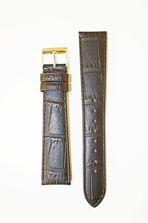 12 mmマットブラックAlligator Grain Italian Leather with S / S Buckle  B004TU4U6M