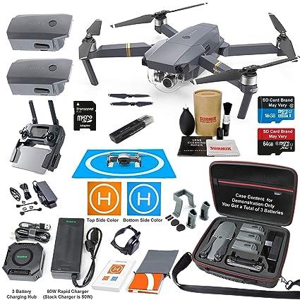 65d45251704 DJI Mavic Pro Drone Quadcopter Elite Combo with 3 Batteries, 4K Professional  Camera Gimbal Bundle
