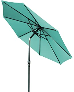 Trademark Innovations Tilt Crank Patio Umbrella, Teal, 10u0027
