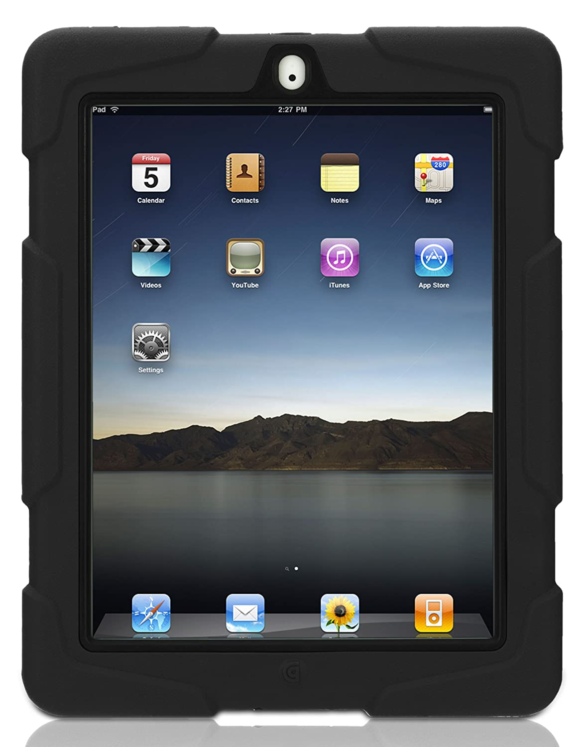 bac3faedf0b Griffin GB02480 Survivor Extreme-duty Military case for the new iPad (4th  Generation), iPad 3 and iPad 2, Black