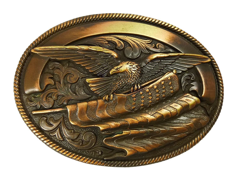 Nocona Vintage Eagle GRAVIERBAR G/ürtelschnalle Western Buckle Cowboy USA