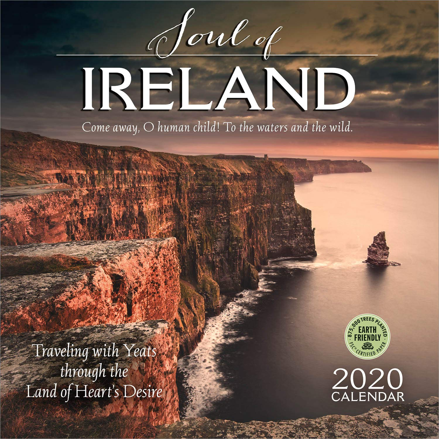 the soul of ireland 2020 wall calendar traveling with yeats through the land of hearts desire