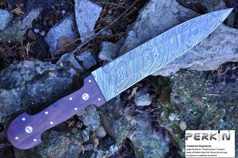Perkin SALE Custom Damascus Handmade Hunting Knife Beautiful Hunting Knife – Double Egde