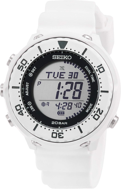SEIKO PROSPEX SBEP011 - Reloj Digital Solar con Carcasa Inferior