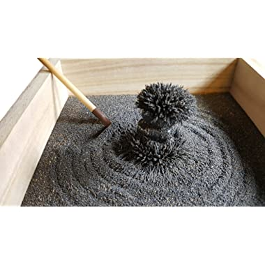 MagZen - Unique Magnetic Zen Garden Zen Box, All Natural Real Magnetic Sand Mined from Arizona USA - Does Not Stain Hands