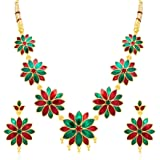 Shostopper Gold Plated Necklace & Dangle & Drop Earring Jewellery Set For Women