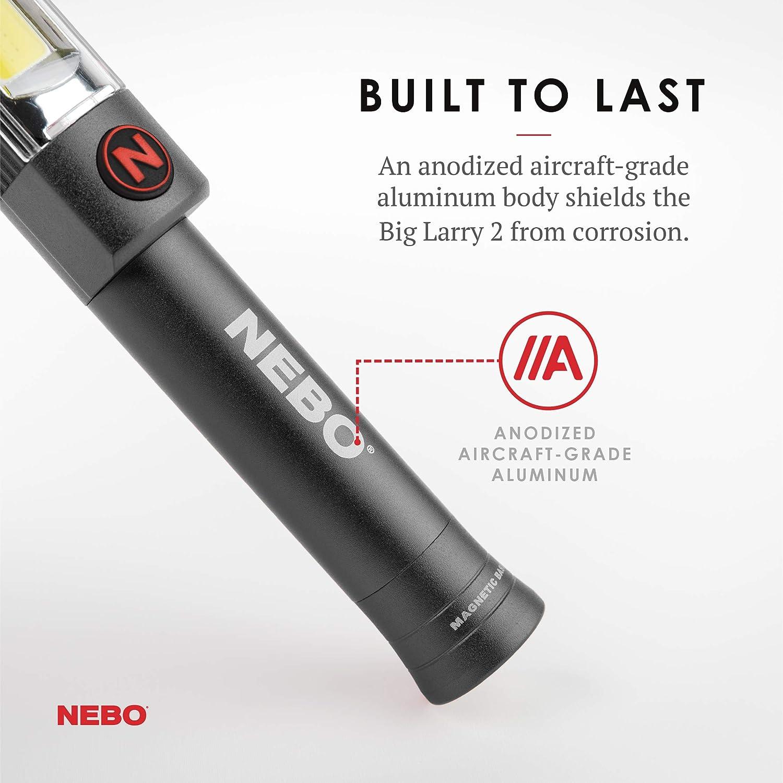 500-lumen mechanic inspection flashlight: NEBO Big Larry 2 (Gray 3-Pack) - - Amazon.com
