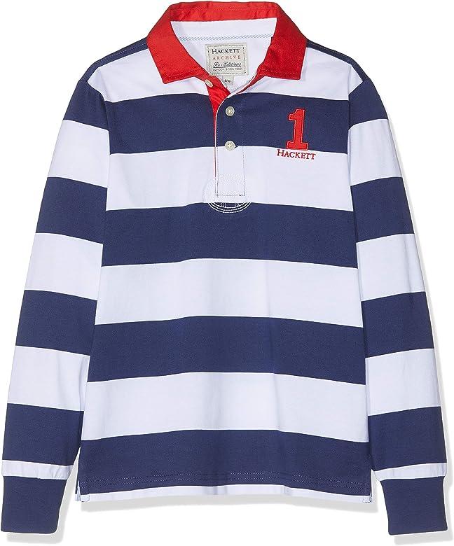 Hackett Stripe Rug Polo, Multicolor (Navy/White 5dj), 152 (Talla ...