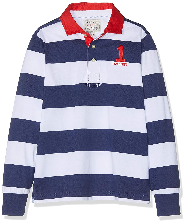 Hackett Stripe Rug Polo, Multicolor (Navy/White 5dj), 92 (Talla ...