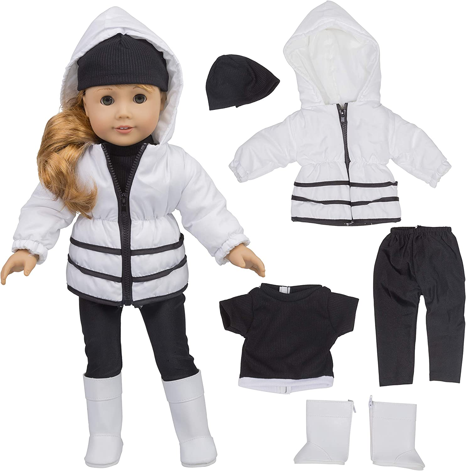 """Gray Hoodie Jacket for American Girl 18/"""" or Baby 15/"""" Doll Clothes Coat Sweater"""