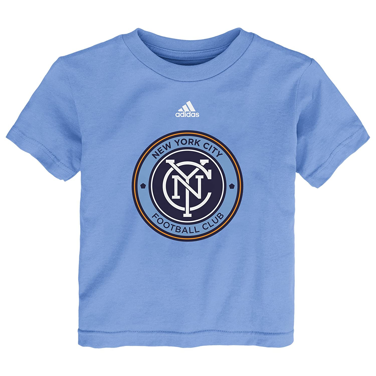 Bahia Light Blue 3T MLS New York City Fc Team Logo Toddler Boys Short Sleeve
