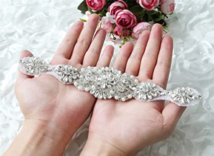 Queendream goccia strass applique per abiti da sposa damigella d