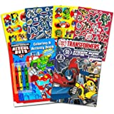 Transformers Rescue Bots Coloring and Activity Book Set (2 Books - 96 Pages)