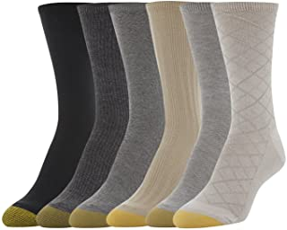 Gold Toe womens standard Casual Texture Crew Socks, 6 Pairs