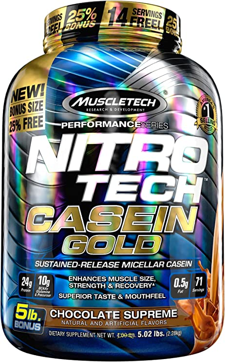Muscletech Performance Series Nitro Tech Casein Gold Chocolate Supreme - 2304 gr