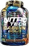 MuscleTech NitroTech Casein Gold Protein Powder, Sustained-Release Micellar Casein, Chocolate Supreme, 80.32 oz