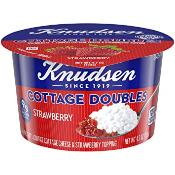 knudsen cottage cheese doubles with strawberry topping 4 7 oz cup rh amazon com