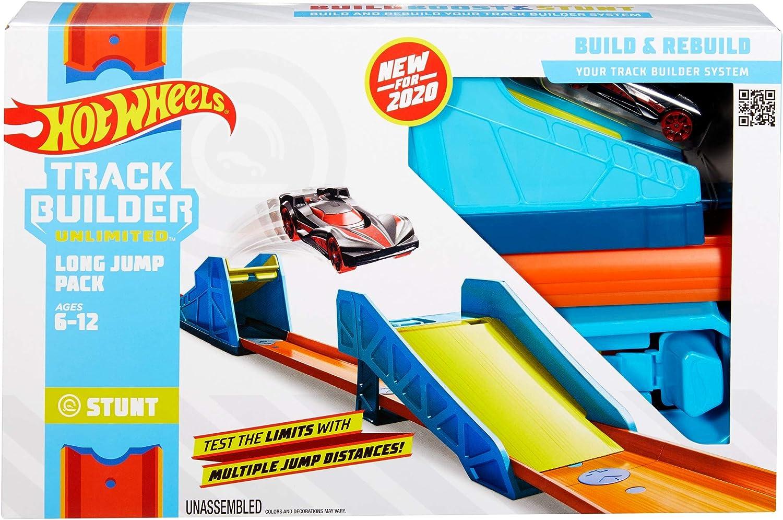 Hot Wheels Track Builder Accesorios para Pistas de Coches Salto Largo (Mattel GLC89) , color/modelo surtido