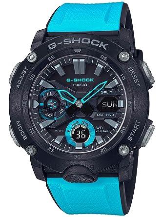 57236b0996f9 Amazon.com: Men's Casio G-Shock Carbon Core Guard Blue Resin Band Watch  GA2000-1A2: Watches