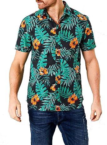Petrol Camisa Manga Corta Raven Grey Tropical M: Amazon.es: Ropa y accesorios