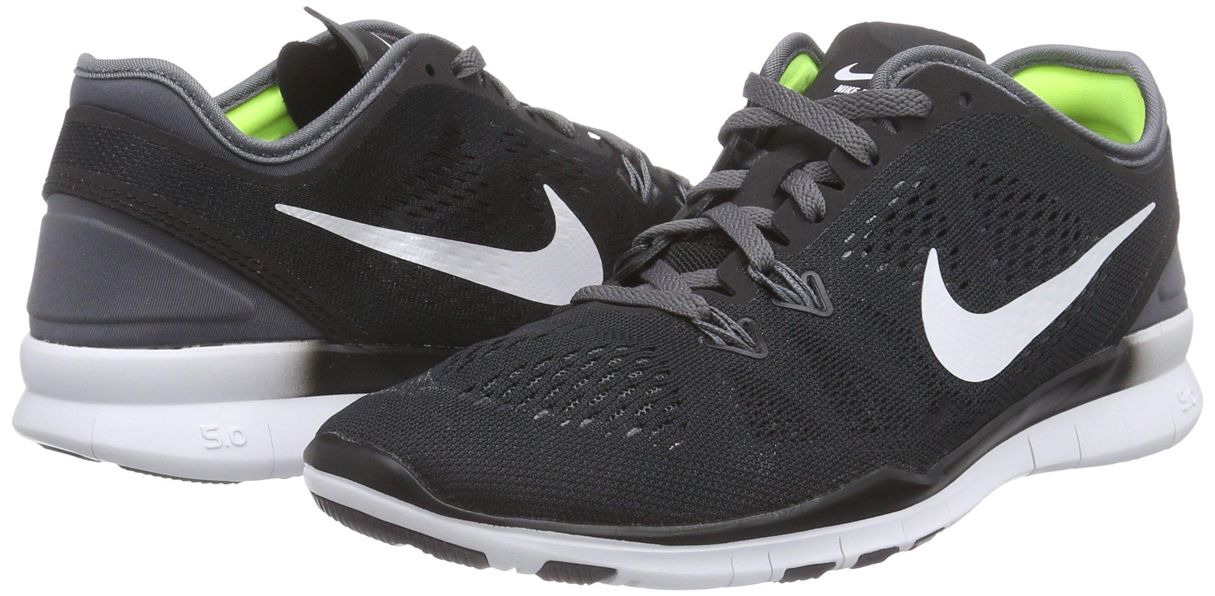 Nike Womens Free 5.0 Tr Fit 5 Black/White/Dark Grey/White Training Shoe 5 Women US by Nike (Image #5)