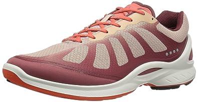 ECCO Women's Biom Fjuel Racer Fashion Sneaker, Petal Trim/Rose Dust/Coral  Blush