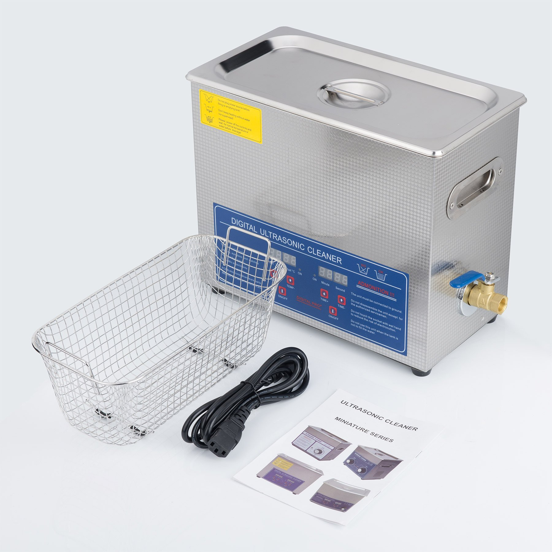 CO-Z 6L Stainless Steel Professional Ultrasonic Jewelry Denture Cleaner with Digital Timer & Heater by CO-Z (Image #7)