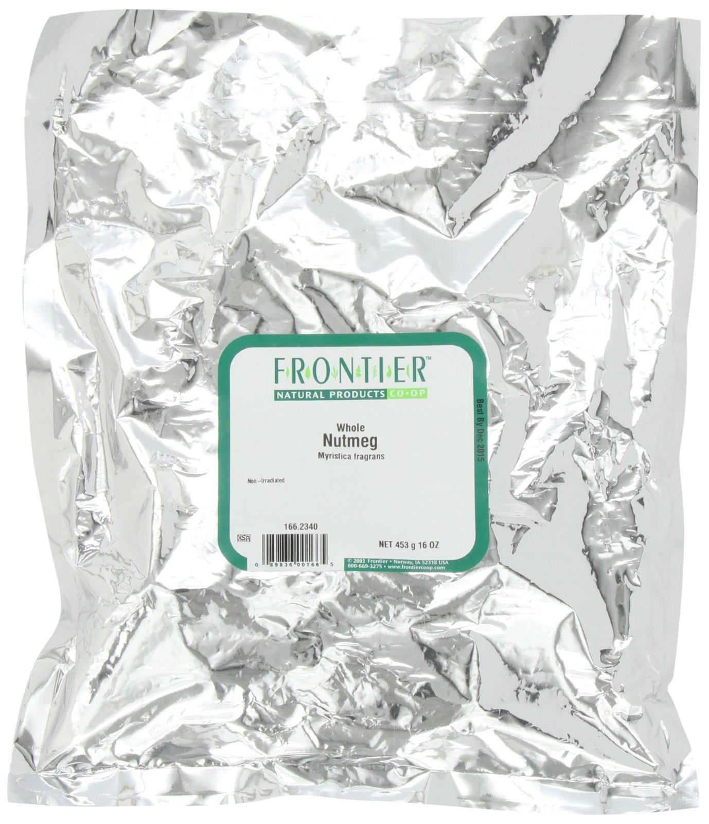 Frontier Nutmeg Whole, 16 Ounce Bag