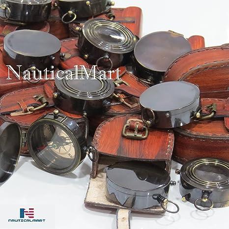 br/újula Totalmente Funcional Estilo Vintage Antiguo br/újula n/áutica Br/újula de lat/ón Envejecido