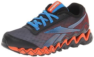 Reebok Zigultra Running Shoe (Little Kid/Big Kid),Black/Risk Blue