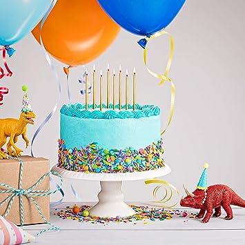 Paquete De 10 blancos Brillo Torta Velas Con Soportes Birthday Decoraciones