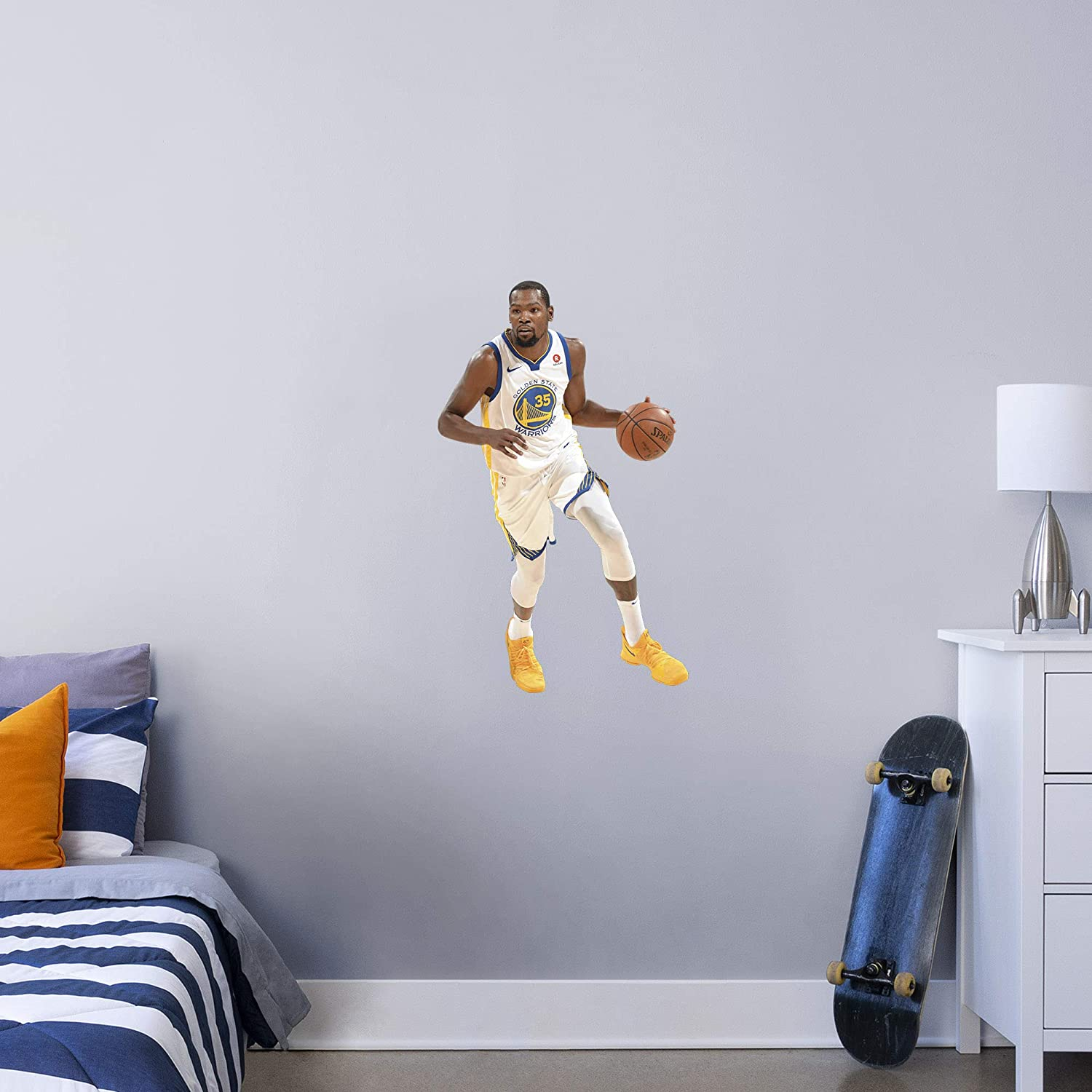 Fathead NBA Golden State Warriors Kevin Durant Kevin Durant- Officially Licensed Removable Wall Decal, Multicolor, X-Large - 1900-00306-004