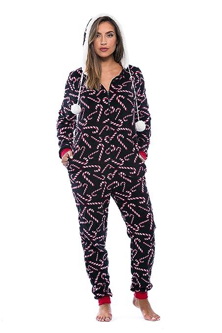 Adult Onesie   One Piece Pajamas Xmas - Candy Cane d4927da68